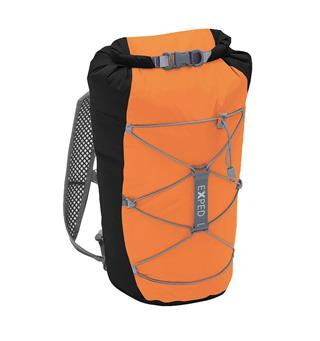 Vanntett dagstursekk Exped Cloudburst 25 Black-Orange