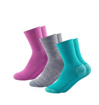 Sokkepakke til barn Devold Daily Medium Socks Kid 31–34 Girl
