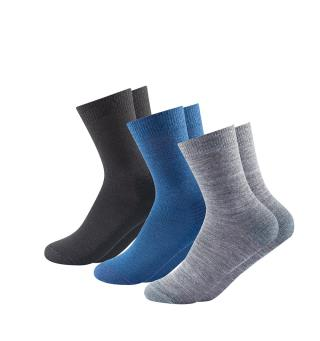 Sokkepakke til barn Devold Daily Medium Socks Kid 31–34 Indi