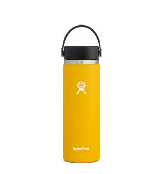 Termoflaske med stor åpning Hydro Flask 20oz Wide Flex Sunflower