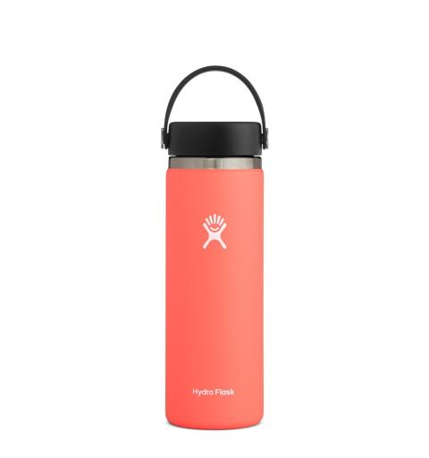 Termoflaske med stor åpning Hydro Flask 20oz Wide Flex Hibiscus